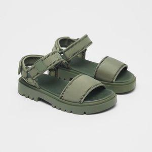• Zara • Treaded Neoprene Sandals
